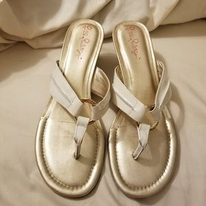 Lilly Pulitzer McKim White Strap sandal size 8